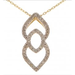 9ct yellow gold 0.16ct diamond necklet