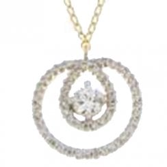 9ct yellow gold 0.38ct diamond necklet