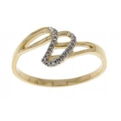 9ct yellow gold 0.03ct diamond ring